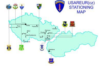 USAREUR(cz) Stationing Map